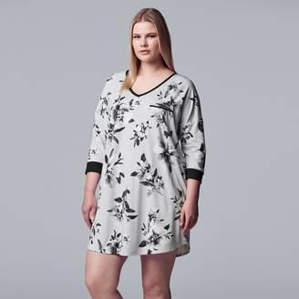 Vera Wang Women's Simply Vera 3/4 Sleeve Sleepshirt