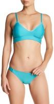 Splendid Triangle Stitch Solid Bralette Bikini Top