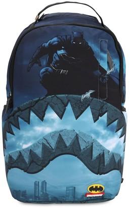 Batman Shark Printed Canvas Backpack