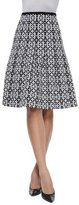 Escada Graphic Floral-Print Pleated Skirt