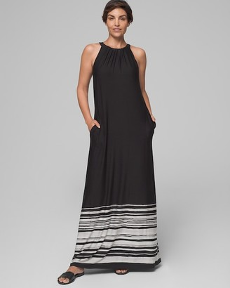 Soma Intimates Halter Maxi Dress with Built-In Bra