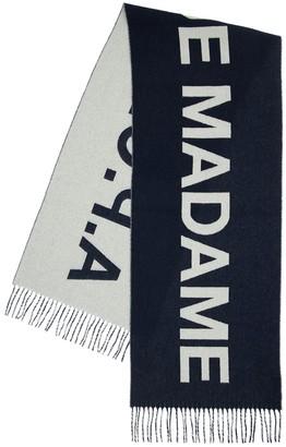 A.P.C. Two Tone Logo Wool Scarf