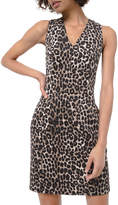 MICHAEL Michael Kors Cheetah Scuba V-Neck Sleeveless Mini Dress