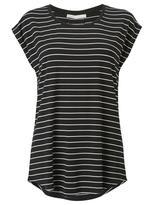 Jeanswest Ellie Luxe Stripe tee-Black/White-XS