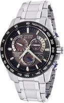 Citizen At4010-50E Men's Chrono Titianium Dark Brown Dial Watch