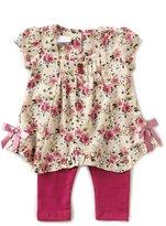 Bonnie Jean Bonnie Baby Baby Girls Newborn-24 Months Floral-Printed A-Line Dress & Solid Leggings Set