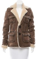 DSQUARED2 Notch-Lapel Shearling Coat w/ Tags