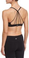 Alo Yoga Sunny Strappy Sports Bra, Glossy Black