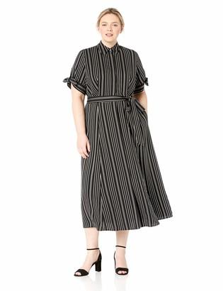 Calvin Klein Women's Size Three Quarter Sleeved Maxi Shirt Dress