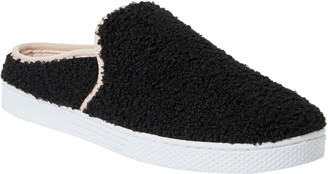 Dearfoams Women's Micro Curly-Pile Clog Slippers