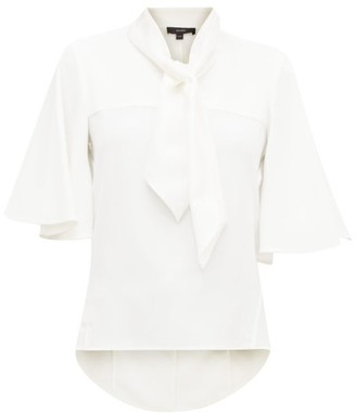 Ellery Adventure Fantastique Satin-scarf Crepe Blouse - Womens - White