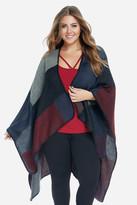 Fashion to Figure Sonora Color Block Ruana Poncho