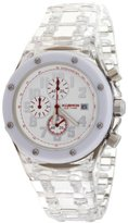 K & Bros Unisex 9400-1 Ice-Time Royal Chronograph White Polycarbonate Watch