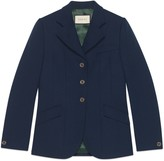 Gucci Fluid drill fitted jacket