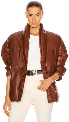 Etoile Isabel Marant Leather Carterae Jacket in Brown | FWRD
