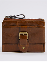 M&S Collection Leather Buckle Purse with CardsafeTM
