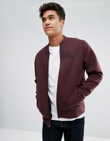 Abercrombie & Fitch Bonded Baseball Sweat Bomber In Red