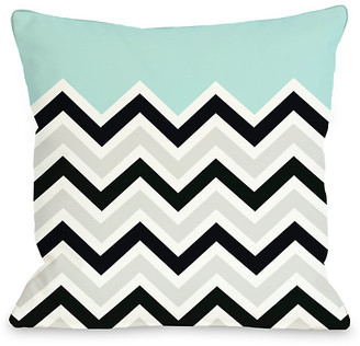 One Bella Casa Chevron Solid Decorative Pillow