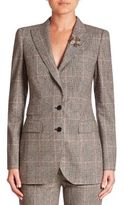 Dolce & Gabbana Bee-Embroidered Check Jacket