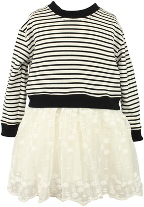 Popatu Stripe Tulle Dress