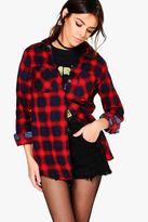 Boohoo Ania Check Flannel Shirt