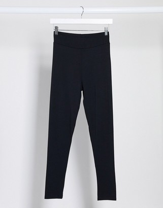 Topshop high waist leggings in black