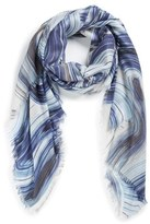 Nordstrom Women's Abstract Print Cashmere & Silk Scarf