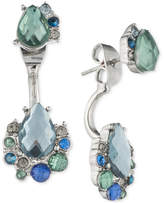 lonna & lilly Silver-Tone Multi-Stone Front and Back Earrings