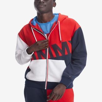 Tommy Hilfiger Men's THD Full Zip Graphic Hoodie Sweatshirt