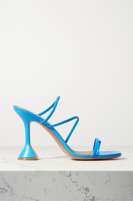 Amina Muaddi Naima Leather Sandals - Blue