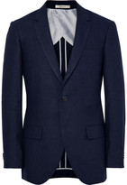 Club Monaco - Blue Grant Puppytooth Linen Suit Jacket