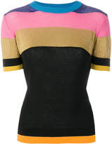 Etro knitted paneled top