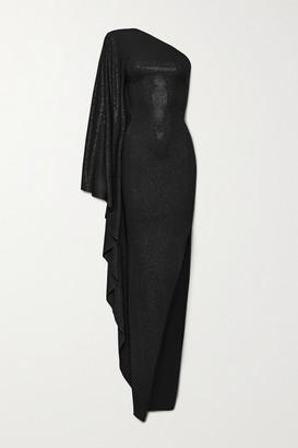 Alexandre Vauthier One-shoulder Crystal-embellished Stretch-jersey Gown - Black