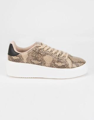 Qupid Maxmino Snake Womens Platform Shoes