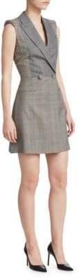 Alexander McQueen Sleeveless Patchwork Dress