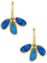 Mallary Marks Circus Hoop Yellow Gold & Boulder Opal Earrings