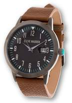 Steve Madden Tan Leather Band Men's Watch