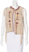 Isabel Marant Embroidered Suede Vest