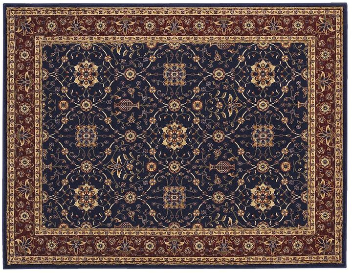 """Couristan all over vase floral rug - 7'6"""" x 10'9"""""""