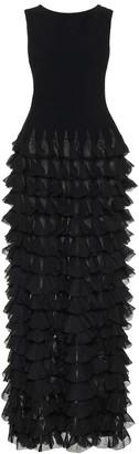 Alaia Ruffled maxi dress