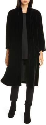 Eileen Fisher Longline Velvet Jacket