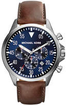 Michael Kors Mens Silver Tone Stainless Steel Gage Chronograph Watch