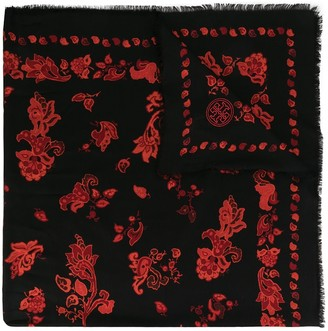 Tory Burch Paisley Oversized Scarf