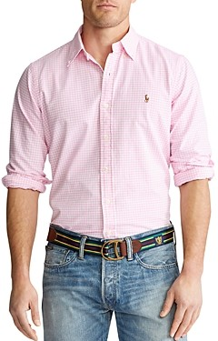 Polo Ralph Lauren Cotton Gingham Plaid Classic Fit Oxford Shirt