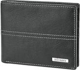 Steve Madden Black Kidskin Passcase Leather Wallet