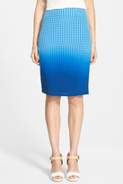 Bailey 44 Astley Dip Dye Silk Pencil Skirt