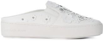 MICHAEL Michael Kors flower appliqué slip on sneakers
