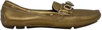 Prada Metallic Patent leather Flats