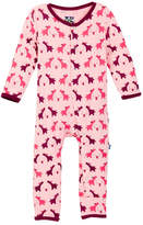 Kickee Pants Print Fitted Coverall (Baby Girl)