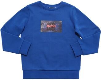 HUGO BOSS Patch Logo Cotton Blend Sweatshirt